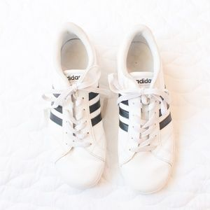 adidas Shoes - Adidas   Baseline Black Stripe Lace Up Sneakers